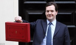 George Osborne outside no 11 Downing Street