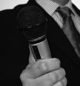 Presenting a motivational speech